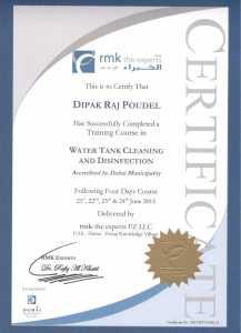 Certificate-Dipak-Raj-Poudel-Water-Tank-Cleaning-1